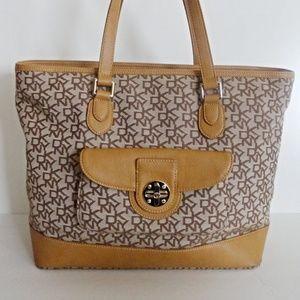 Women's DKNY Brown Large Handbag Pre-owned